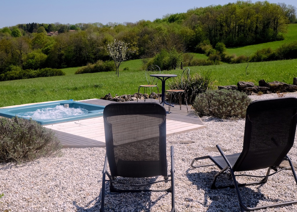 Views Round the Hot Tub, UTLT, Cellefrouin, France